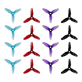 16pcs HQProp 3x4x3V1S Tri-Blade Propeller 3 inch Props for RC FPV Drone Quadcopter (4sets, Mix Color)