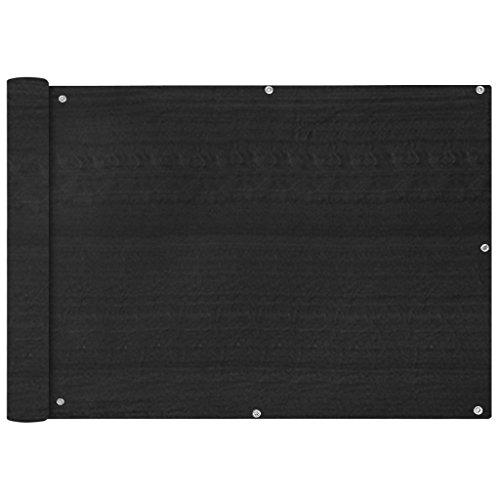 vidaXL Écran de Balcon PEHD 75x600 cm Anthracite Brise-Vue Brise Vent Ombre