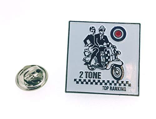 Gemelolandia   Pin de Solapa Vespa Two Tone Mod RAF   Pines Originales y Baratos Para Regalar   Para las Camisas, la Ropa o para tu Mochila   Detalles Divertidos