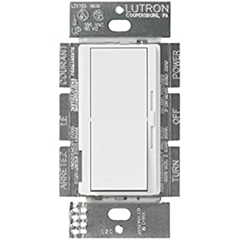 Lutron Single Pole/3 Way 500W Incand./Halogen/250W CFL and LED Dimmer Diva DVRP-253P-WH, White
