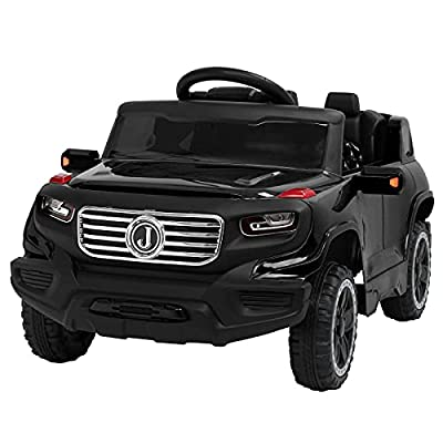 VALUE BOX Electric Remote Control Truck, Kids Toddler Ride On Cars 6V Battery Motorized Vehicles Children's Best Toy Car Safe with 3 Speeds, Music, seat Belts, LED Lights and Realistic Horns (Ink) by VALUE BOX