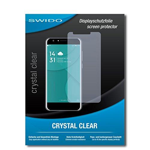 SWIDO Bildschirmschutz für Doogee Y6 4G [4 Stück] Kristall-Klar, Hoher Festigkeitgrad, Schutz vor Öl, Staub & Kratzer/Schutzfolie, Bildschirmschutzfolie, Panzerglas Folie