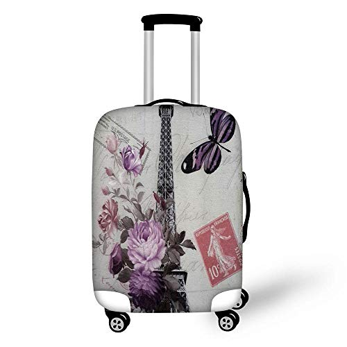 BBOOXX 3D Suitcase Protective,Case Luggage Dust Cover Printing Butterfly Thicker Wear Resistant Polyester Spandex Dustproof Elastic Travel Trolley Box Suitcase Cover B-L(26-28in)