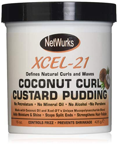 Netwurks Xcel 21 Coconut Curl Custard Pudding, 15 Oz