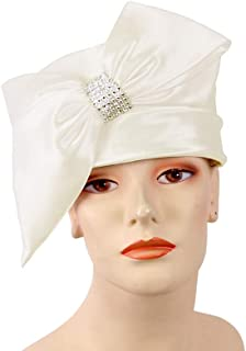 Women's Satin Pillbox Church Hats Dress Formal Hats #K021