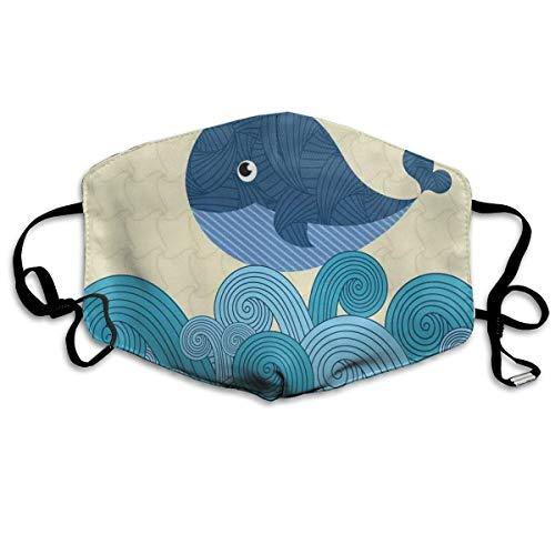 Cartoon Smiley lindo modelado ballena con rayas ormentales impresión de imagen nueva a prueba de sol banda de moda para hombres y mujeres