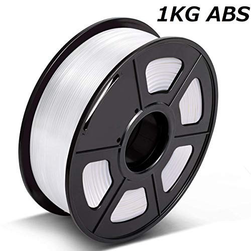 3D Warhorse ABS Filament 1.75mm,White ABS Filament for 3D Printer,1KG Spool,Dimensional Accuracy +/- 0.02mm,3D Printing Filament ABS White,ABS Filament,1.75mm Filament