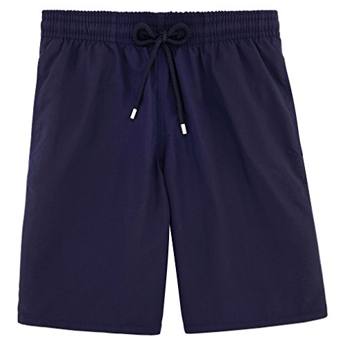 Vilebrequin Men's Okoa Solid Swim Trunk, Navy, Large