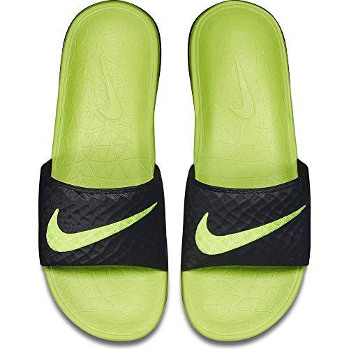 Nike Men's Benassi Solarsoft Slide Athletic Sandal, Black/Volt, 10 D(M) US black chair gaming