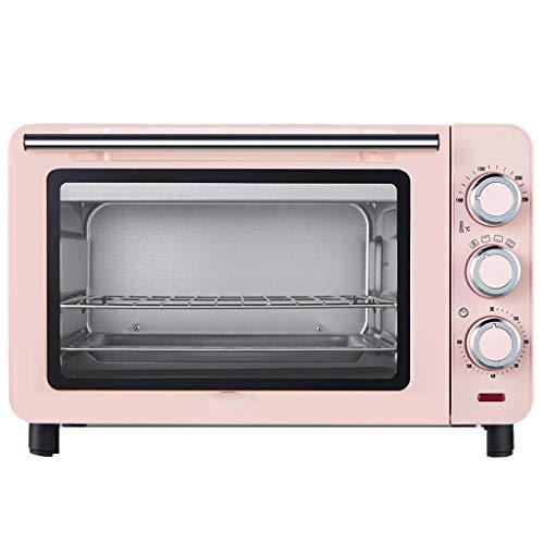 Minibackofen Umluft,15 L Kapazität Unabhängige Temperatureinstellung 60 Minuten Timer 100-230 °, Backofen Mit Umluft Kompakter Klein-Backofen,220V pink
