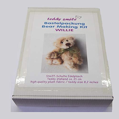 teddy smile - Bastelpackung Willie für die traditionelle Fertigung eines Teddy - Bären; 21 cm