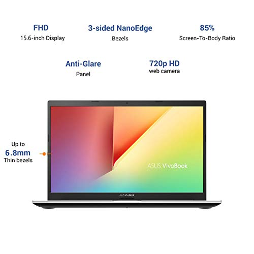 ASUS VivoBook Ultra 15 (2020) Intel Core i7-1165G7 11th Gen 15.6-inch FHD Thin and Light Laptop (8GB/512GB NVMe SSD/Integrated Graphics/Windows 10/MS Office 2019/Dreamy White/1.8 kg), X513EA-EJ733TS