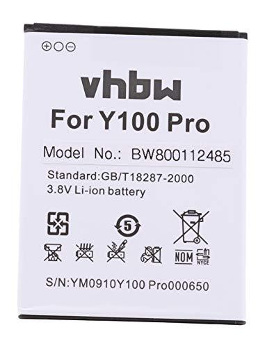 vhbw Li-Ion Akku 2200mAh (3.8V) kompatibel mit Handy Smartphone Handy Doogee Valencia 2, Y 100, Y100, Y100 Pro Ersatz für H0722Y100Pro550.