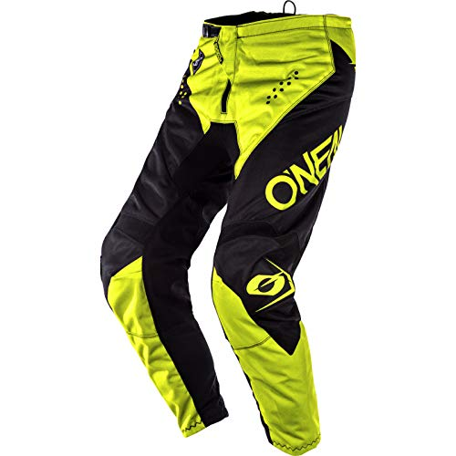 O'Neal Element Racewear Moto Cross Hose MX Enduro MTB DH Downhill Freeride Trail All Mountain Bike, E010, Farbe Schwarz Neongelb, Größe 30