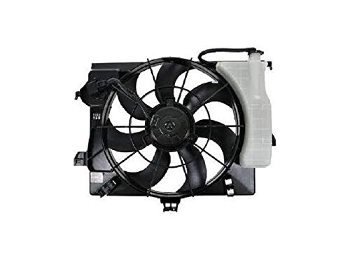 Radiator Fan Assembly with Overflow Tank - Compatible with 2012-2017 Kia Rio 1.6L with Automatic Transmission