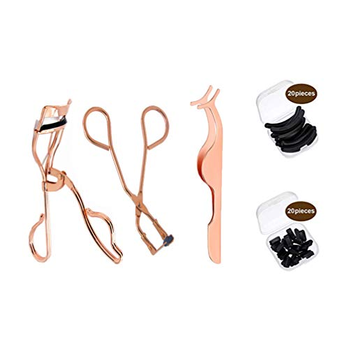 Minkissy 43Pcs Kit de Belleza de Pestañas Herramienta de Pestañas Falsas Rizador de Pestañas Parciales Ayudas de Pestañas Falsas Traje Suministros Cosméticos para Mujeres Damas