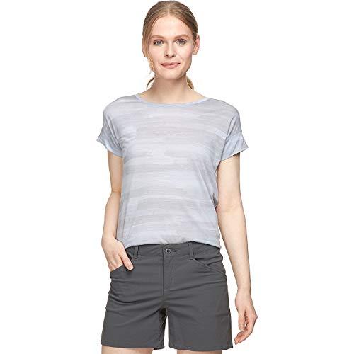 Icebreaker Via T-shirt à manches courtes en laine mérinos, Femme, Rayures délavées Mercury, m