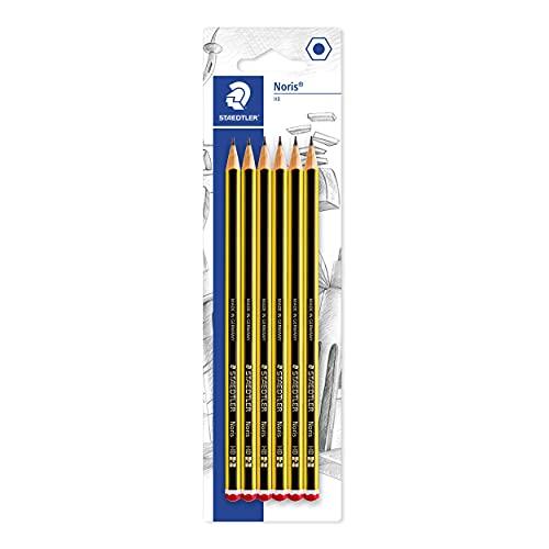 STAEDTLER matite Noris, confezione da 6 matite di gradazione HB, alta qualità e resistenza, 120-2BK6DA