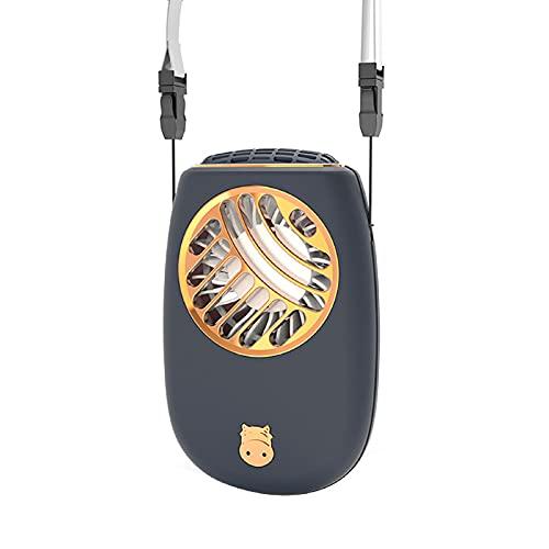 Beare Mini ventilador de mano personal con ventilador portátil recargable de 3 velocidades, mini USB para colgar el cuello