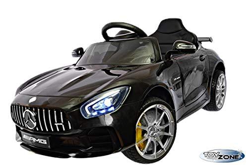 ToyZone Kinderfahrzeug 12V Kinderauto Kinder Elektro Auto Mercedes GTR AMG MP3 USB Ledersitz Eva Gummiräder 2,4 GHZ*