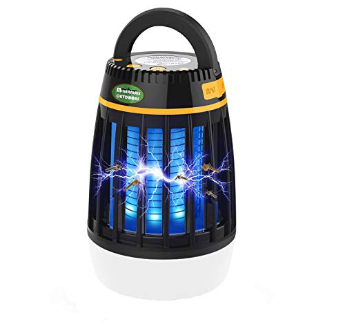 MILLENNIALS OUTDOORS Camping Bug Zapper for Outdoor and Indoor, 3 in 1 Electronic Light Bulb lamp Insect Killer, Mosquito Killer