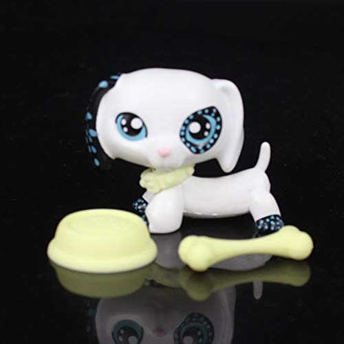 CJHA Rare Pet Shop White Dachshund Dog Animal Accessories lps