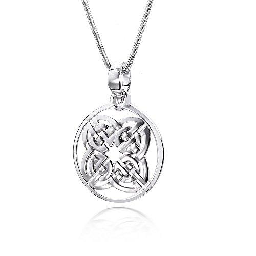 MATERIA 45cm Kette mit Anhänger keltisch 925 Silber rund rhodiniert in Box #436-22, Länge Halskette:70 cm