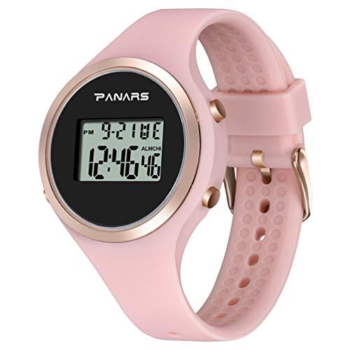 ibasenice Reloj Electrónico Multiusos a Prueba de Luz Movimiento Impermeable Reloj Digital Reloj Alarma Gel de Sílice Cronógrafo Relojes para Estudiantes Niños Niñas Mujeres Hombres