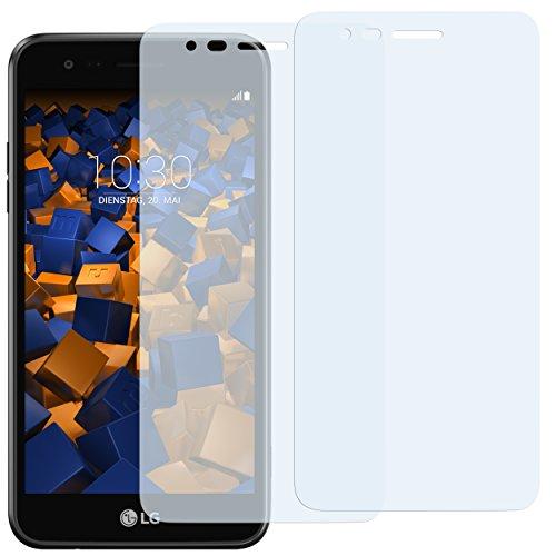 mumbi Schutzfolie kompatibel mit LG K4 2017 Folie klar, Bildschirmschutzfolie (2X)