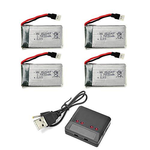 HYF STONE FQ36 drohne akku 3.7v 650MAH Lipo Batterie mit 4in1 Ladegeräte Für EACHINE E32hw Guard FQ36 SCHARKSPARK SS40 SNAPTAIN S5C Syma X5C X5SW MJX X708 X708W JJRC H42 Quadcopter Drohnen
