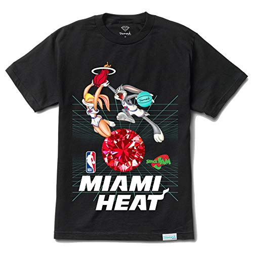 Diamond Supply Co. x NBA Space Jam 2 Men's Miami Heat Short Sleeve T Shirt Black L