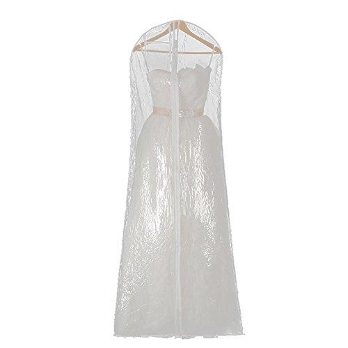 lembrd Transparante kledingzak, kledinghoes, kledingbescherming, opbergen, grijs, vliesstof, 80 x 180 cm, hoogwaardige kledinghoes voor bruidsjurken en jurk, ademende avondjurken