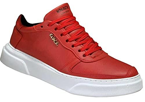 Knack 222 - Zapatos para hombre, estilo casual, para uso diario, ligeros, transpirables, para caminar, color rojo, Red, 39 2/3 EU