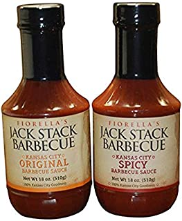 Fiorellas Jack Stack Barbecue Original Sauce & Spicy Variety 2 Pack