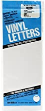 Duro D3220-WHT Permanent Adhesive Vinyl Letters, 6-Inch, White