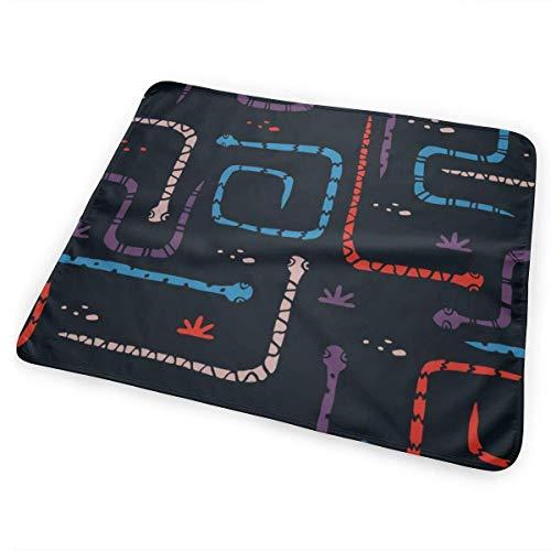Slangen maken me gelukkig veranderen pad waterdicht draagbare grote baby veranderen Mat om luier matras Pad Cover voor jongen en meisje pasgeborene (25,5
