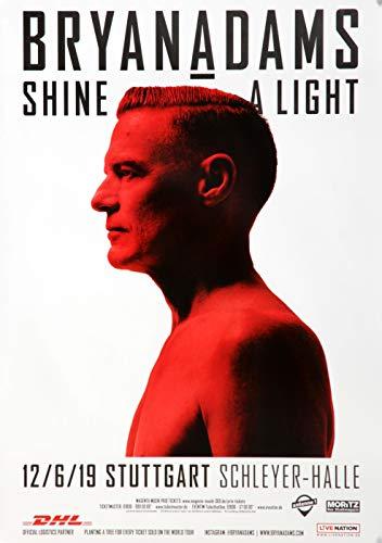 Bryan Adams - Shine A Light, Stuttgart 2019 » Konzertplakat/Premium Poster | Live Konzert Veranstaltung | DIN A1 «