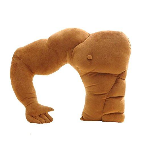 Regenboghorn Boyfriend-Kissen Freund-Kissen Muskel-Arm-Mann Hug Körper warm Brown Bett schlafen Kissen Kuschelkissen Seitenschläferkissen Schlafkissen (Brown)