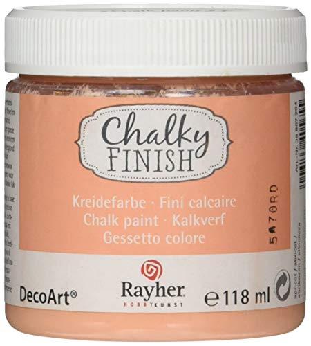 Rayher 38867204 Chalky Finish auf Wasser-Basis, Kreide-Farbe für Shabby-Chic-, Vintage- und Landhaus-Stil-Looks, 118 ml, aprikot