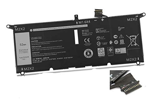 ASKC 52Wh DXGH8 Batería para DELL XPS 13 9370 2018 Series XPS 13-9370-D1605G 13-9370-D1605S 13-9370-D1705G 13-9370-D1705S 13-9370-D1805G 13-9370-D1809G 13-9370-D1905TG 13-9370-D2905G