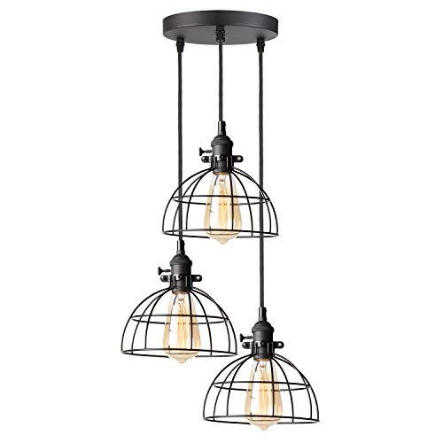 TANGSHI Retro Edison Lampenfassung Pendelleuchte, Vintage Hängeleuchte Pendelleuchte Deckenbeleuchtung