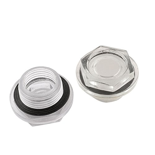 26° mm Durchmesser, Kompressor-Öl Liquid Schauglas, 2 Stück de