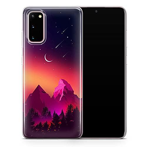 Funda para Samsung Galaxy S10 lite – Funda para teléfono de gran montaña, diseño floral de arte estético – Delgada a prueba de golpes y suave silicona TPU – Diseño 1 – A110