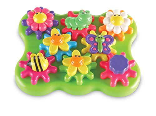Learning Resources Flower Garden Build amp Spin Playset Toddler Fine Motor Toy Easter Basket Toy 17 Pieces Ages 2