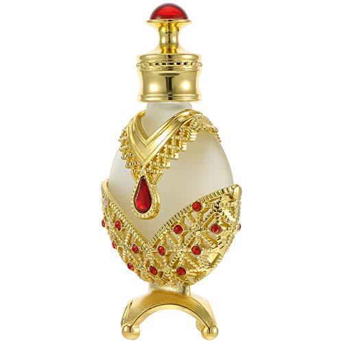 Healifty 10 ML Parfüm Dropper Flasche Milchglas Ätherisches Öl Aroma Probe Jar Kosmetische Sub Verpackung Jewel Flasche für Frauen Damen Stil 1