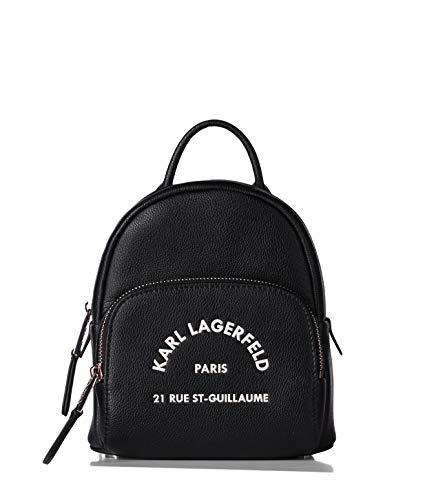 Karl Lagerfeld Kleiner Rucksack aus Leder Rue St Guillaume Modell 205W3083 schwarz (A999)