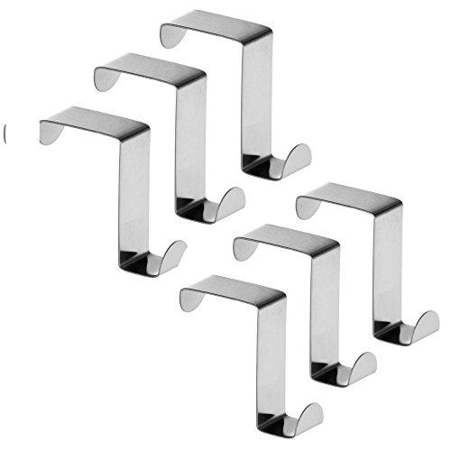 Bluelans® Türhaken Kleiderhaken Badezimmerhaken Türgarderobenhaken - 6er Set, Edelstahl rostfrei,5,5 x 4 cm x 1,8 cm