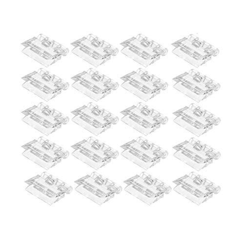 Plegables Transparente Bisagras Durables De Plástico Bisagras Miniatura Bisagra para Maquillaje Caja Bisagra para el Bricolaje Visualizacion para Piano Puerta Armario Bisagras Herramientas 20 Pcs