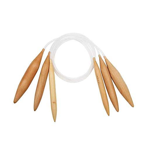 XJF 3* Fusiform Trenzado Aguja Bambú Crochet Accesorio Herramienta para Suéter