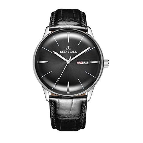 REEF TIGER Herren Uhr analog Automatik mit Leder Armband RGA8238-YBB